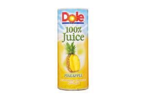 Сок ананасовый натуральный Dole ж/б 250мл