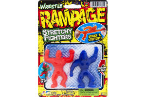 Ja-Ru Wrestle Rampage Stretchy Fighters- 2 CT