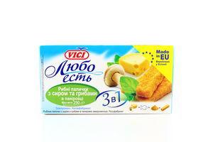 Рыбные палочки Vici Любо есть с сыром и грибами в панировке с/м к/у 250г