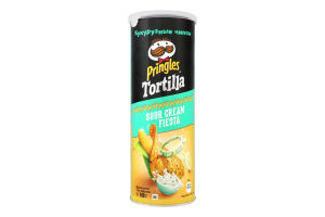 Чiпси кукурудзянi зi смаком сметани Tortilla Pringles к/у 160г