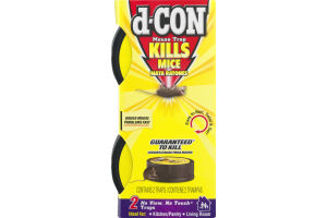 D-Con Mouse Trap No View, No Touch Traps - 2 CT