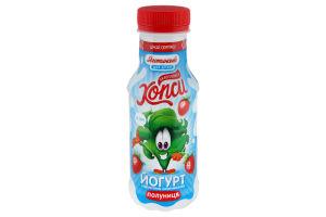 Йогурт клубника 1.5% пет Хопси 200г