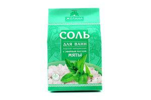 Соль для ванн с эфирным маслом мяты Желана 500г