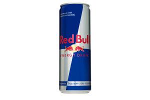 Напій енергетичний безалкогольний сильногазований з таурином Energy drink Red Bull з/б 355мл