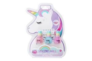 Набір іграшковий з трьох голографічних лаків для нігтів для дітей від 8років №MR43275 Єдиноріг Make it Real 1шт