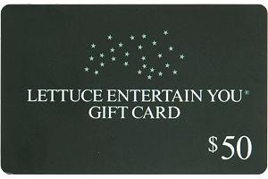 Lettuce Entertain You $50 Gift Card