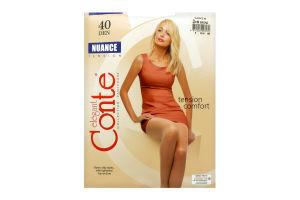 Колготы женские Conte Nuance 40den 3-М bronz