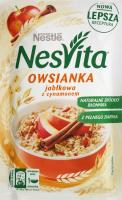 Каша вівсяна солодка з молоком та шматочками яблука Nesvita м/у 46г