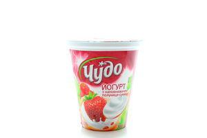 Йогурт 2,5% клубника-земляника Чудо стак 300г