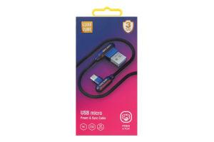 Кабель 1м USB micro to USB Luxe Cube 1шт