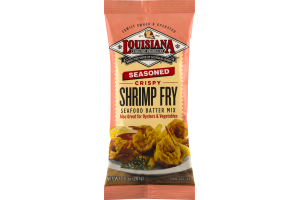 Louisiana Fish Fry Products Seafood Batter Mix Seasoned Crispy Shrimp Fry