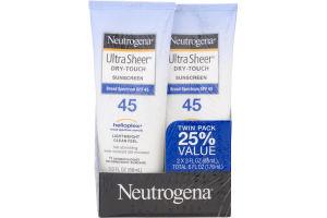 Neutrogena Ultra Sheer Dry-Touch Sunscreen SPF 45 - 2 PK