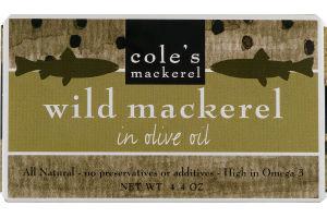 Cole's Mackerel Wild Mackerel in Olive Oil