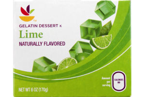 Ahold Gelatin Dessert Lime