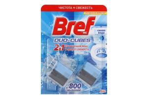 Кубики для сливного бачка чистящие 2в1 Duo-Cubes Bref 2х50г