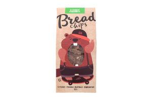 Сухарі грінки житньо-пшеничні зі смаком часнику Bread Chips м/у 80г