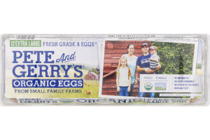 Pete And Gerry's Organic Eggs Extra Large Fresh Grade A - 12 CT