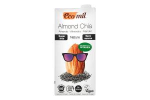 Молоко органическое растительное из миндаля с семенами Чиа Ecomil т/п 1л