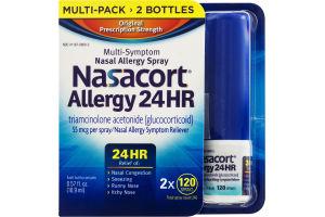 Nasacort Allergy 24 HR Nasal Allergy Spray - 2 PK