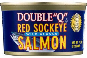 "Double ""Q"" Red Sockeye Wild Alaska Salmon"