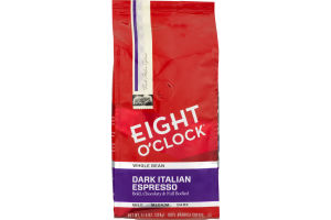 Eight O'Clock Whole Bean Dark Italian Espresso 100% Arabica Coffee
