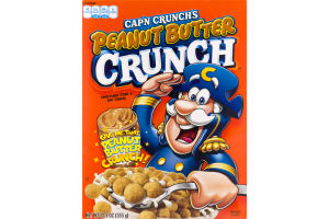 Cap'n Crunch's Peanut Butter Crunch Sweetened Corn & Oat Cereal