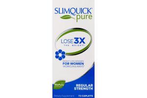 SlimQuick Clinical Strength Fat Burner Dietary Supplement Caplets - 72 CT