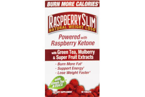 Raspberry Slim Dietary Supplement Tablets Natural Weight Loss