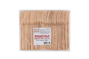 Вилка деревянная №11159 Linpac 100шт