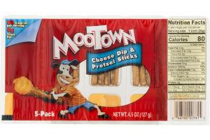 MooTown Cheese Dip & Pretzel Sticks - 5 CT