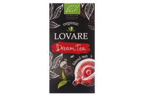 Бленд чая черного и зеленого мелкого органического Dream Tea Lovare к/у 24х1.5г