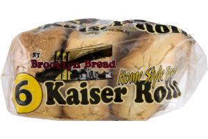 NY Brooklyn Bread Kaiser Rolls - 6 CT