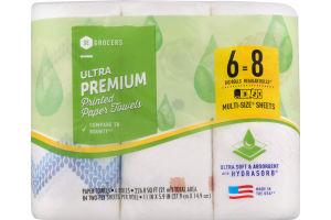 SE Grocers Paper Towels Ultra Premium Printed - 6 CT