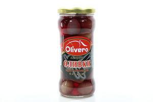Маслины с косточками бочковые Olivero с/б 350г