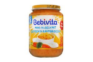 Пюре для детей от 6мес Мини-лапша с морской рыбой и овощами Bebivita с/б 190г