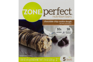 Zone Perfect Nutrition Bars Chocolate Chip Cookie Dough - 5 CT
