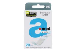 Пластырь медицинский Transparent A-med 20шт
