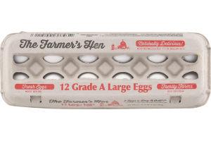 The Farmer's Hen Grade A Large Eggs - 12 CT