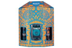 Набір 0.7л 38% зі склянками Blanco Olmeca к/у