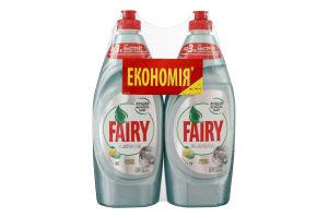 Средство для мытья посуды Лимон и Лайм Platinum Fairy 2x650мл