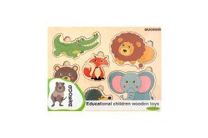 Пазл-вкладиш дерев'яний для дітей від 3-х років Дикі тварини Quokka 1шт
