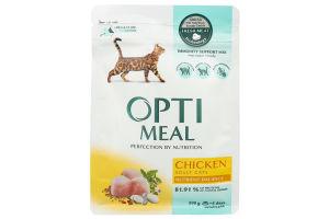 Корм для котов сухой с курицей Optimeal м/у 200г