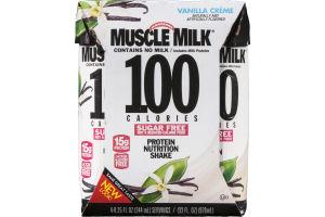 Muscle Milk 100 Calorie Protein Nutrition Shake Vanilla Creme - 4 CT