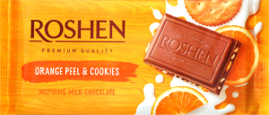 Шоколад Roshen Orange Peel & Cookies 90г х6