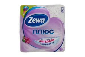 Папір туалетний 2-х шаровий з ароматом бузку Плюс Zewa 4шт