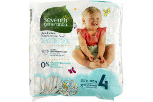 Seventh Generation Diapers Size 4 - 27 CT