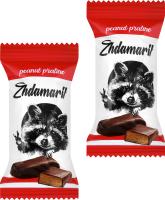 Конфеты арахисовое пралине Zhdamarik кг