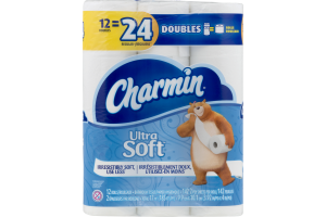Charmin Ultra Soft Bathroom Tissue Double Rolls - 12 CT