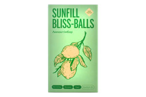 Конфеты Лимон+имбирь Bliss-balls SunFill к/у 135г