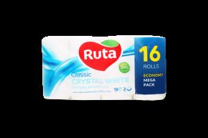 Бумага туалетная Ruta Classic белая